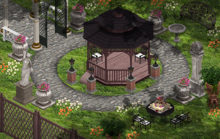 yoville romantic garden stone decorations