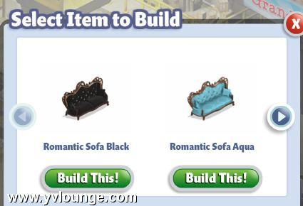 yoville free sofa romantic widget collectibles