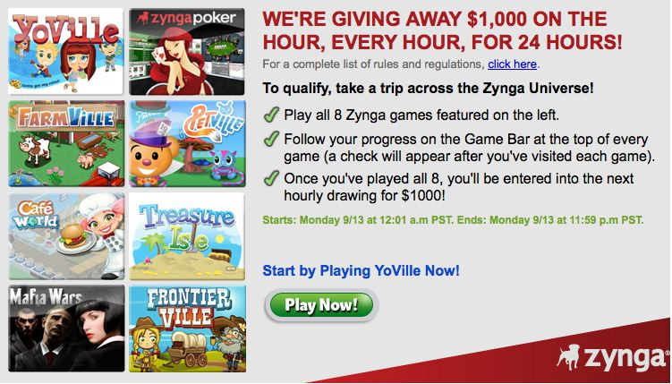zynga 8-game challenge win cash