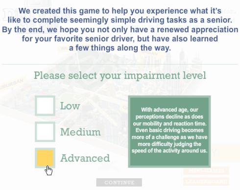 Liberty Mutual asks for your impairment level