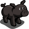 farmville black pig gift