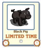 farmville black pig giftable