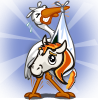 farmville candy corn foal stork