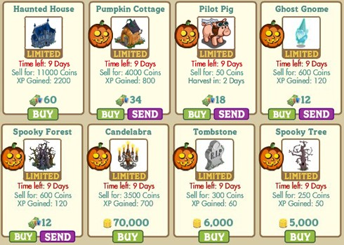 for those farmers that were with the game during last years halloween event youll likely notice the return of the haunted house the tomb stone and the