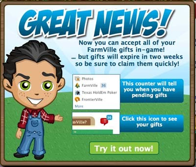 farmville in-game gifting