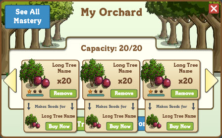 farmville orchard trees