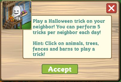 farmville trick or treat