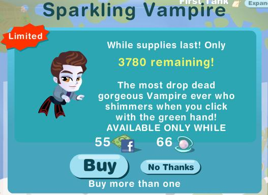 Happy Aquarium Sparkling Vampire