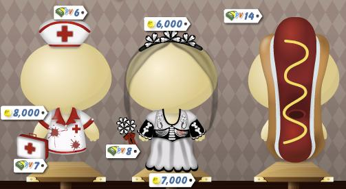 Nurse, Undead Bride and Hot Dog Costumes