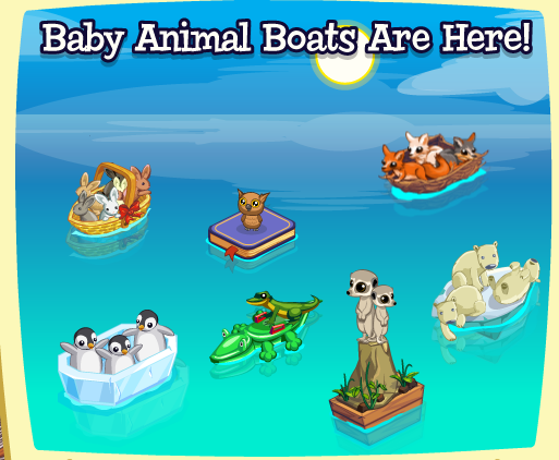 Treasure Isle Baby Animal Boats