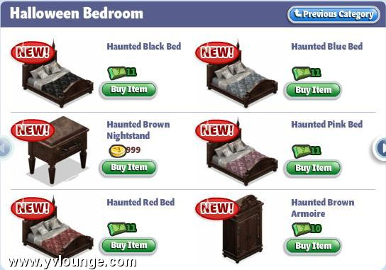 yoville halloween items castle decorations