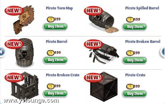 yoville pirate items