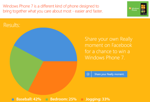 Windows Phone Cafe World pie chart