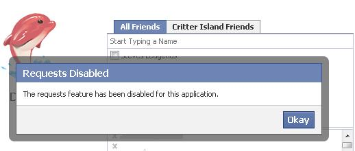 Critter Island Request Fail