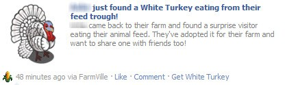 FarmVille Feed Trough White Turkey