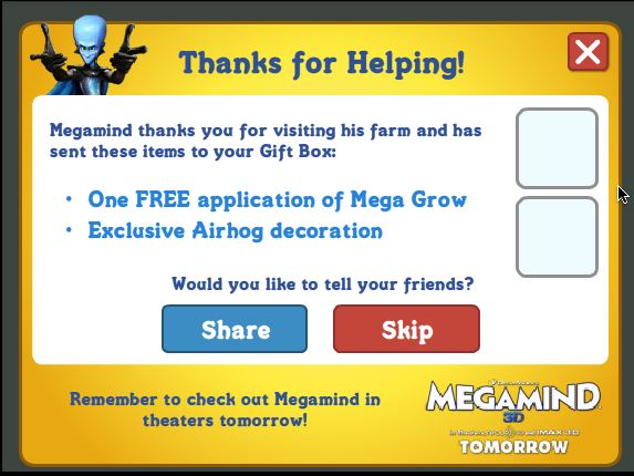 farmville megamind promotion
