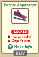 FarmVille Purple Asparagus
