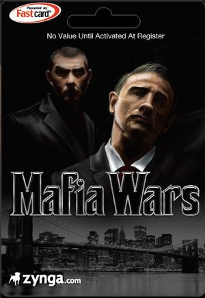 Mafia Wars Game Card