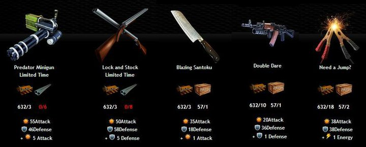 Weapons Depot Items