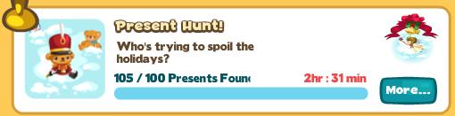 Restaurant City Challenge Present Hunt