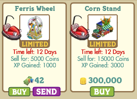 FarmVille Ferris Wheel and Corn Stand