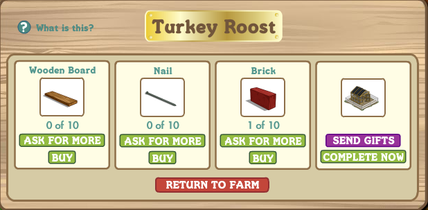FarmVille Turkey Roost