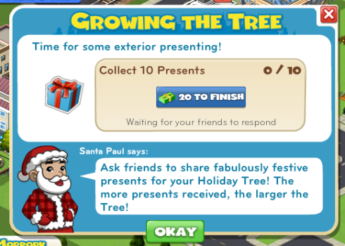 CityVille Growing the Tree