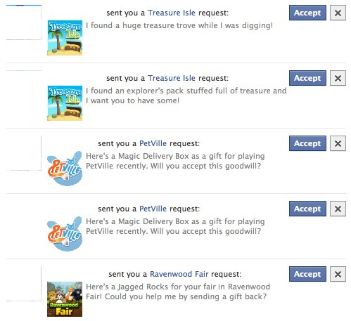 Facebook redesigns application and game Gift Requests (again ...