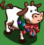 farmville festive cow on its way