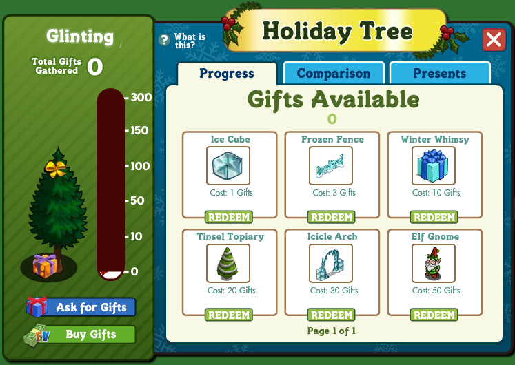 Holiday Tree Menu