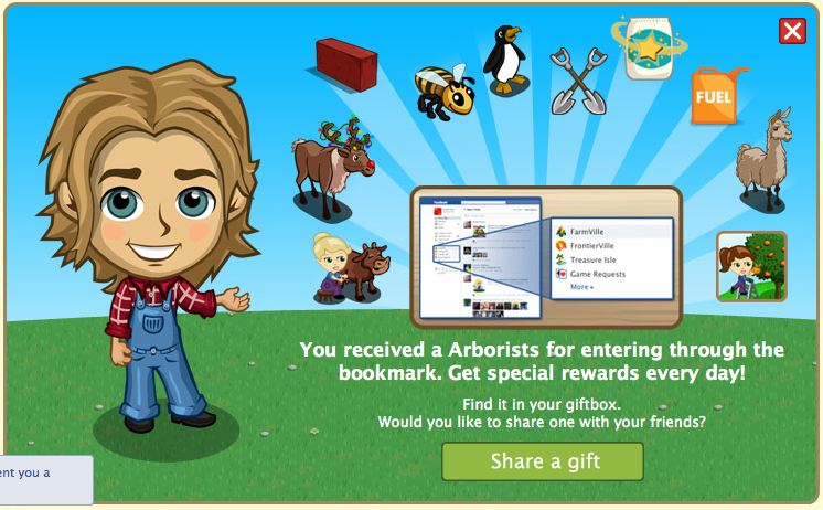 farmville bookmark rewards