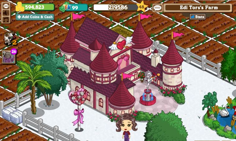 cupid's castle farmville valentines day