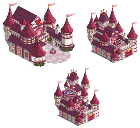 cupids castle three stages
