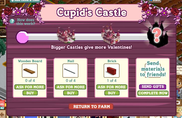 farmville cupid's castle