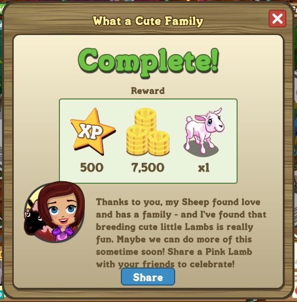 farmville valentines day missions cute family rewards
