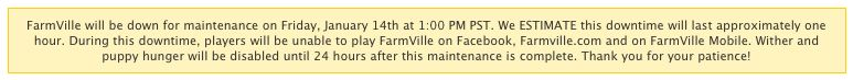 farmville maintenance poll