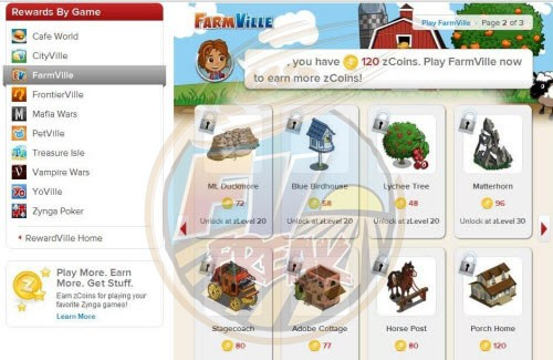 RewardVille Rewards FarmVille