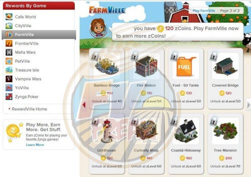 FarmVille RewardVille rewards