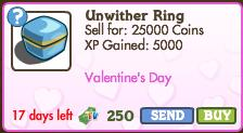 Unwither Ring in the Market