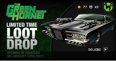 The Green Hornet in Mafia Wars