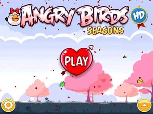 Angry Birds Valentines home page