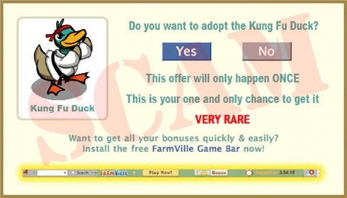 FarmVille Duck Scam adoption