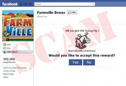 FarmVille phony bonus page