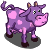 FarmVille Purple Valentines Cow