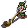 FarmVille gnome Swiss Alphorn