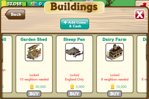 FarmVille English Countryside Buildings