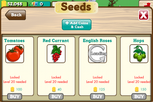FarmVille English Crops 2