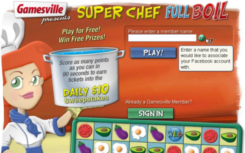 Gamesville Super Chef Full Boil sign up