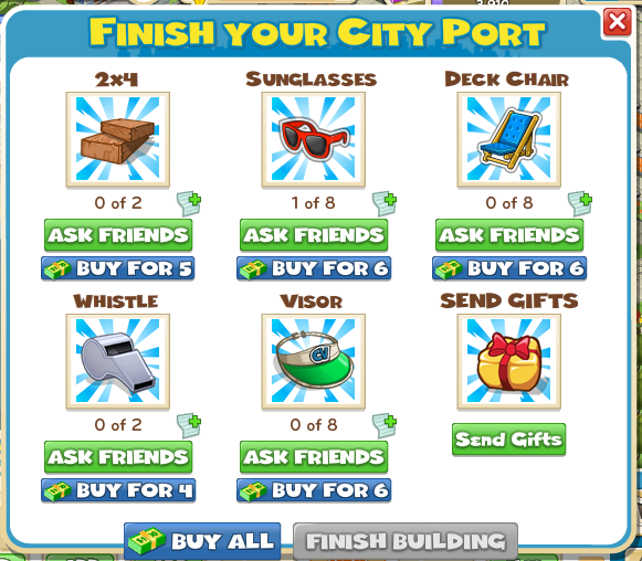 Finish Your City Port