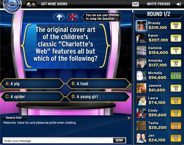 Who Wants to Be a Millionaire now on Facebook: Compete with others ...
